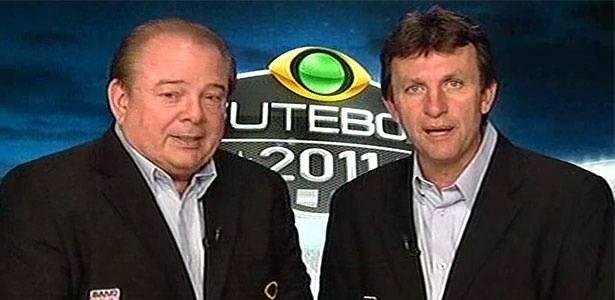 Luciano do Valle e Neto comentam jogo na Bandeirantes