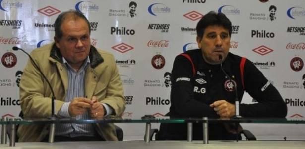 Técnico Renato Gaúcho é apresentado pelo Atlético-PR
