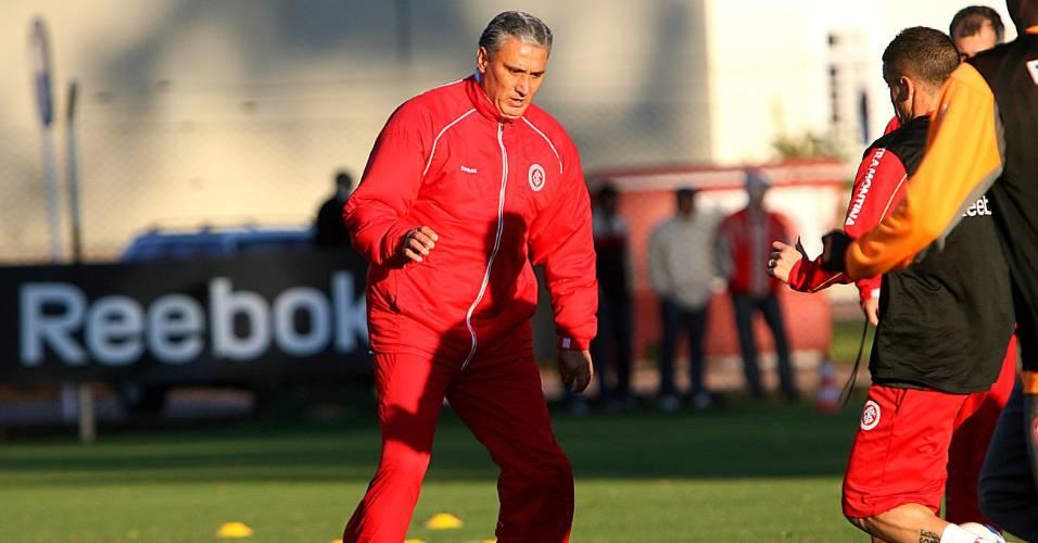 Técnico Tite e o meia D'Alessandro no Internacional em 2008