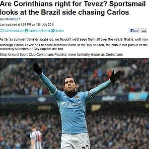 Jornal inglês fez um perfil sobre o Corinthians, clube que fez proposta para contratar Tevez