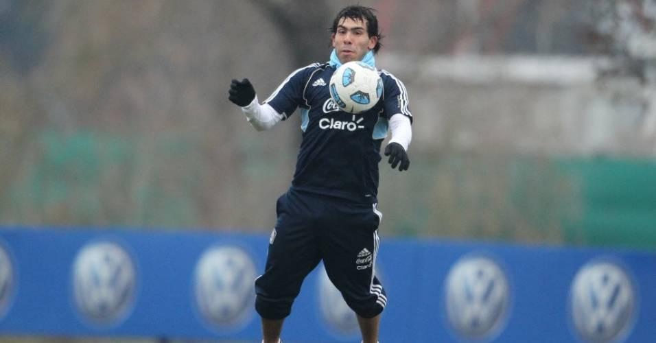 Tevez está com a seleção argentina disputando a Copa América
