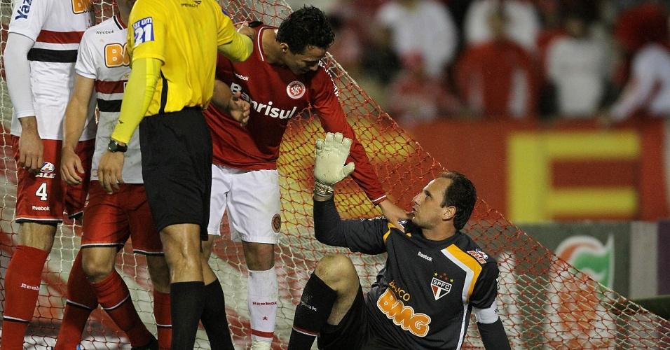 Rogério Ceni e Leandro Damião