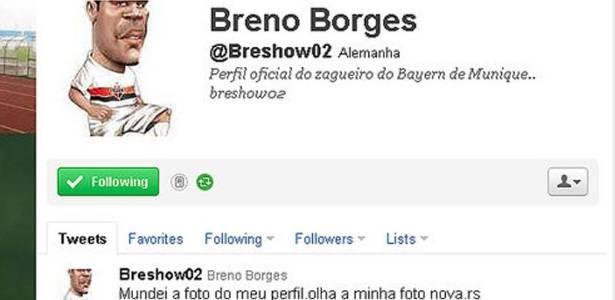 Zagueiro Breno, do Bayern de Munique, posta um desenho com a camisa do São Paulo no Twitter