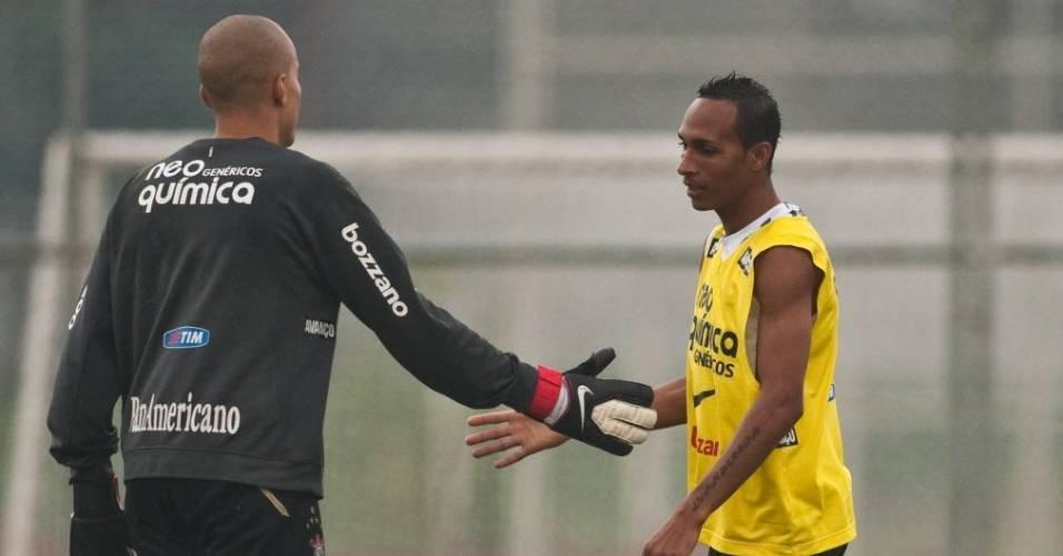 Julio Cesar e Liedson, do Corinthians