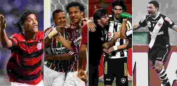 """Com """"toque"""" de suas estrelas, Fla, Fluminense, Botafogo e Vasco venceram na rodada - Arte/ UOL"""