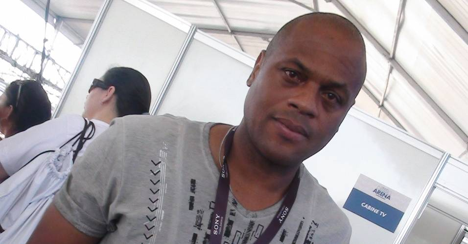 Ex-zagueiro Ronaldão em evento do futebol de areia no Rio de Janeiro