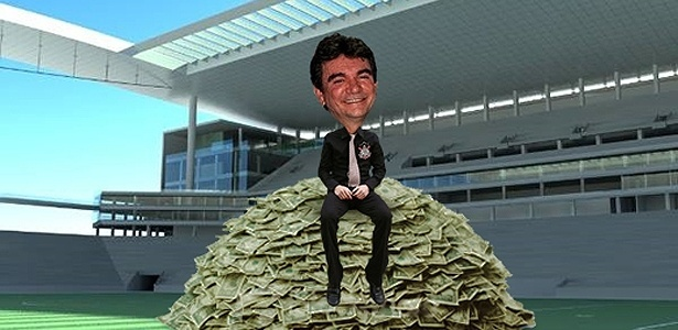 O presidente corintiano Andrés Sanchez vai erguer o Itaquerão só com recursos públicos