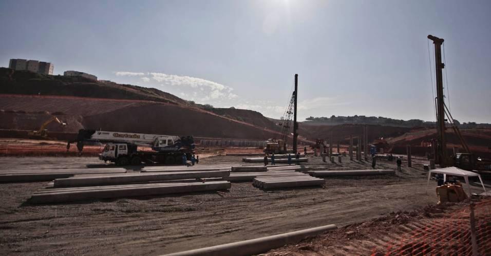 Obras do futuro estádio do Corinthians, em Itaquera (05/08/11)