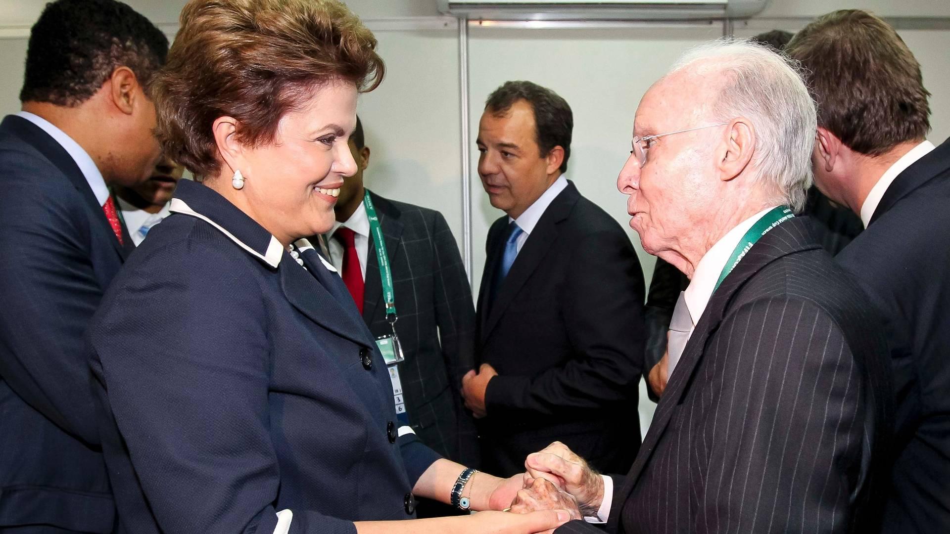 Zagallo se encontra com Dilma durante evento da Fifa