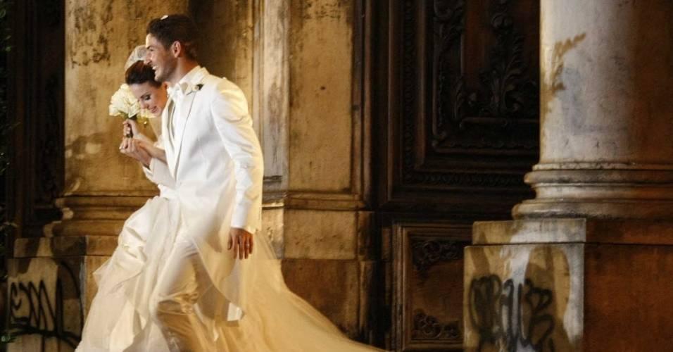 Alexandre Pato e Sthefany Brito se casam no Rio
