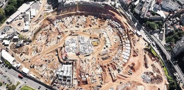 Obras na Arena Fonte Nova, em Salvador (BA), um dos estádios nas mãos da Odebrecht