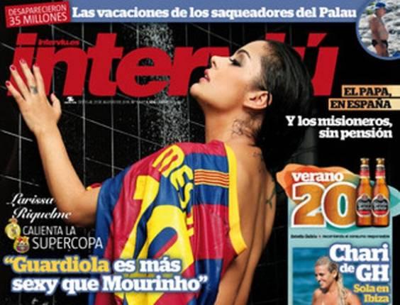 Larissa Riquelme na capa da revista espanhola