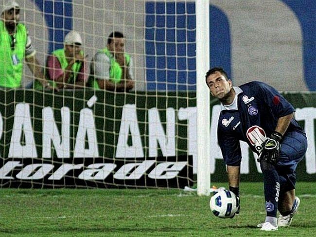 Marcelo Lomba, goleiro do Bahia, durante partida contra o Coritiba, em Pituaçu (24/07/2011)