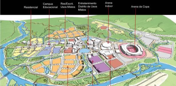 Projeto para a Cidade da Copa, em Recife (PE); plano é concluir obras depois de 2020