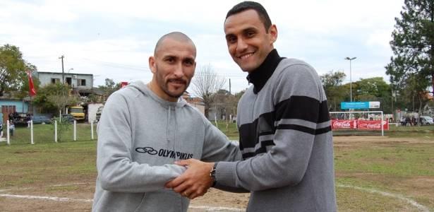 Guiãzu e Rafael Marques pregam paz no clássico Gre-Nal deste domingo (28/08/2011)
