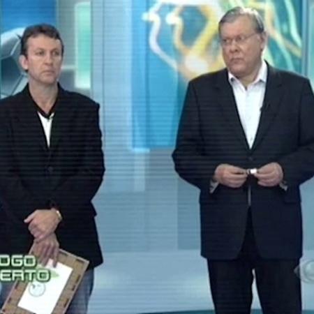 """Neto e Milton Neves no programa """"Jogo Aberto"""", da Band - Reprodução"""