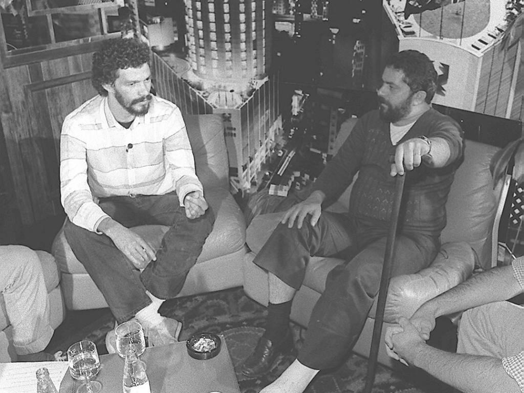 Socrátes se encontra com Luiz Inácio Lula da Silva no hotel Hilton, em São Paulo, em agosto de 1994