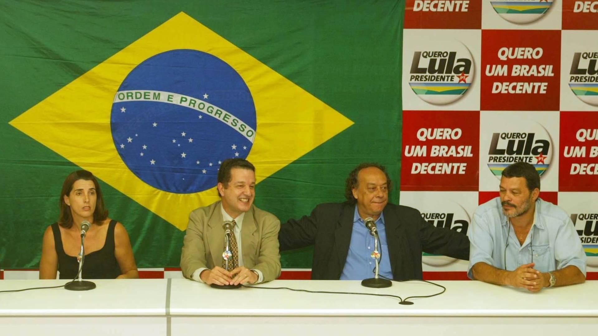 Wladimir, Paula, Juca Kfouri, José Trajano e Sócrates dão entrevista na sede do PT, na Vila Mariana, após entregarem uma carta para o Lula com sugestões para o Esporte.