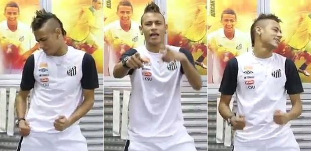 Neymar dança 'Ai se eu te pego', principal sucesso de Michel Teló, no vestiário do Santos