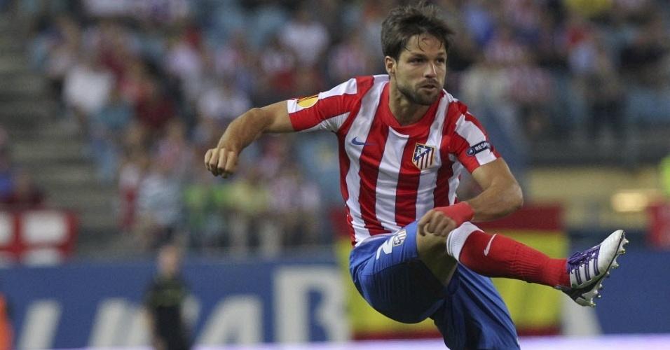 Diego marcou o segundo gol do Atlético de Madrid contra o Celtic
