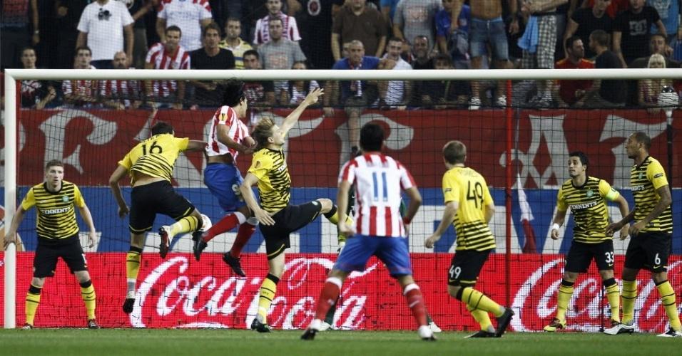 Falcão Garcia foi a principal contratação do Atlético de Madrid para a temporada 2011/2012