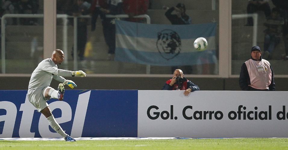 Jefferson no Superclássico entre Brasil e Argentina