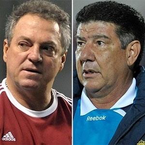 Reencontro entre Abel Braga (e) e Joel Santana será no jogo entre Fluminense e Bahia, no domingo - Arte UOL