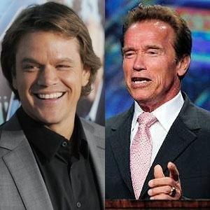 Arnold Schwarzenegger e Matt Damon estiveram com Ronaldo em restaurante de Nova York