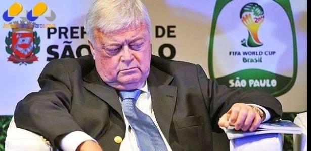 O presidente da CBF, Ricardo Teixeira, sob investigação da PF