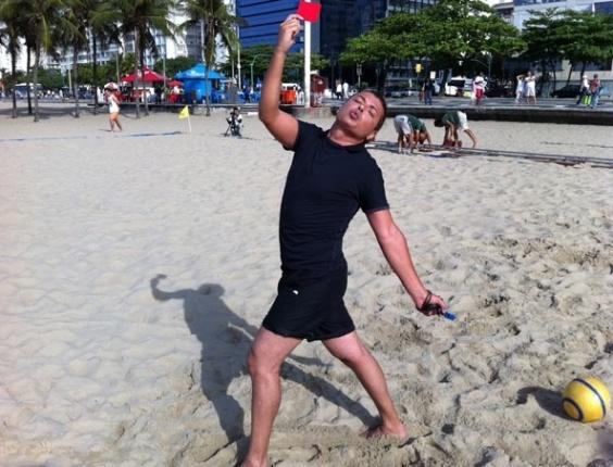 David Brazil fez participação especial na série Preamar, como um árbitro de futebol