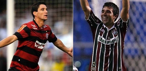 Thiago Neves e Deco: dois dos possíveis protagonistas do Fla-Flu sem Ronaldinho e Fred