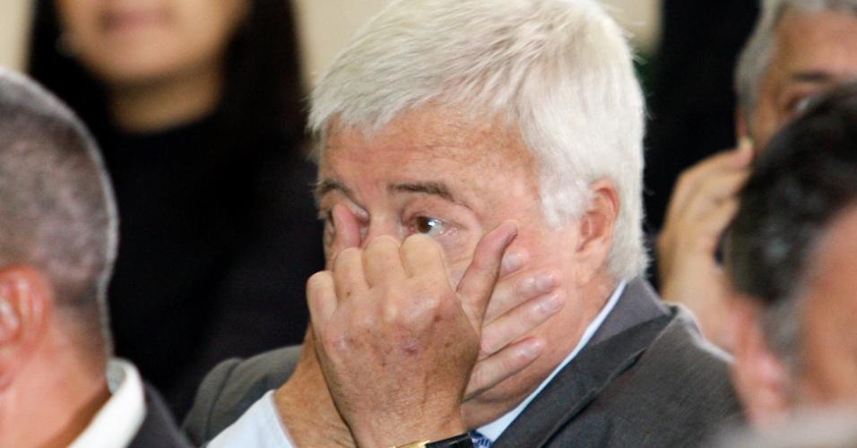 Ricardo Teixeira participa da posse do ministro do Esporte, Aldo Rebelo (31/10/2011)