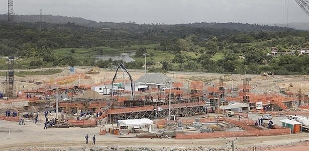 Vista da Arena Pernambuco em outubro de 2011