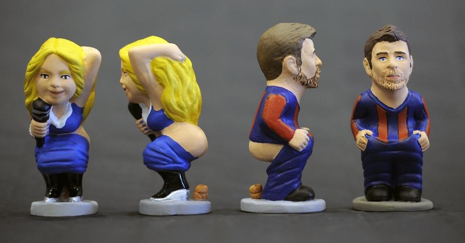 Caganers de Shakira e Piqué são lançados na Catalunha