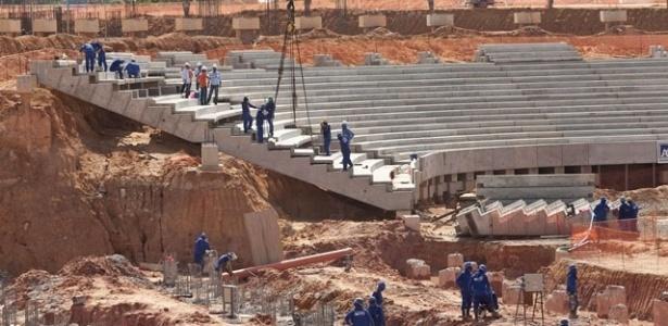 Vista da obra da Arena Amazônia, em Manaus, no início de novembro de 2011