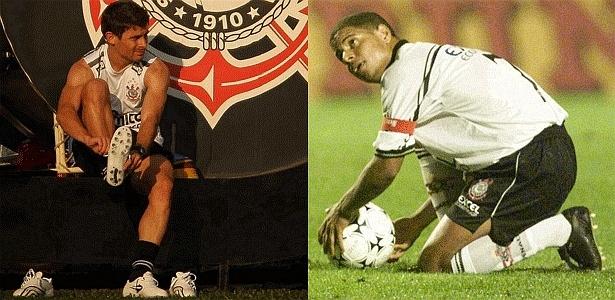Alex revela admiração por Marcelinho e perguntou a ele como bater na bola, em 2006 - Montagem UOL com fotos da Folhapress