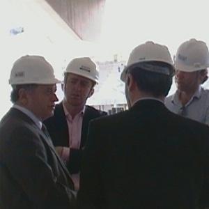 Secretário Sérgio Barroso recebe dirigentes da Federação Inglesa em visita ao Independência