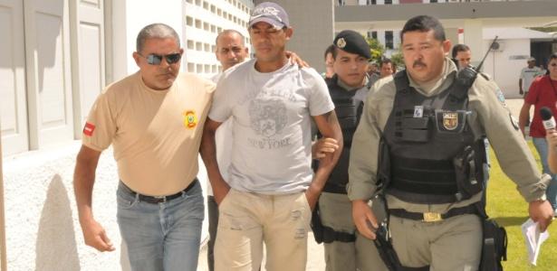 Marcelinho Paraíba, do Sport, em novembro do ano passado, ao ser preso pela polícia