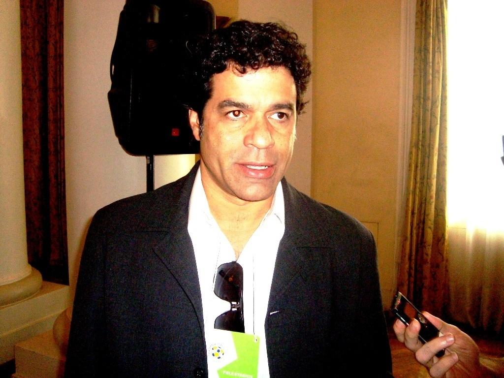 Raí conversou com a imprensa durante o Footecon, no Rio de Janeiro