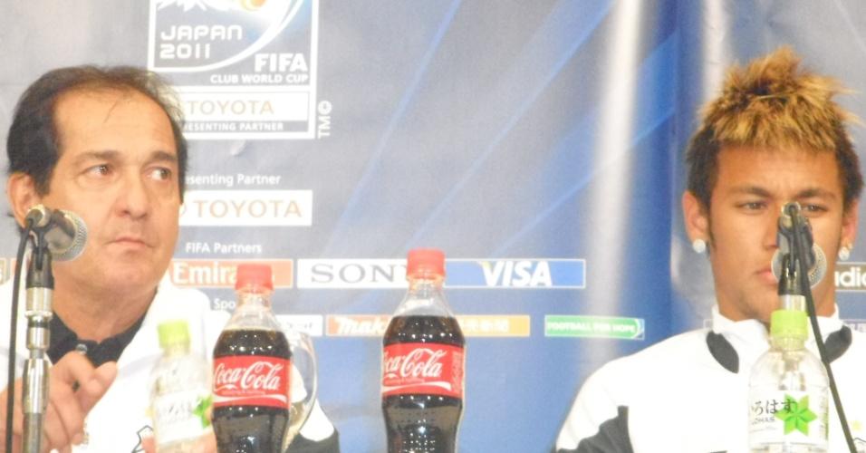 Muricy Ramalho concede entrevita ao lado de Neymar em Nagoya-JAP