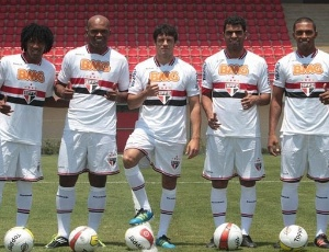 Edson Silva, Fabrício, Cortês, Maicon e Paulo Miranda vestiram a camisa do São Paulo