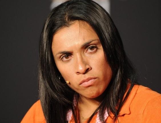 Brasileira Marta participa de entrevista em evento da Fifa para os melhores de 2011
