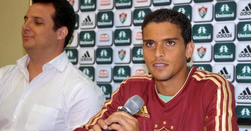 Jean na apresentação do Fluminense (09/01/2012)