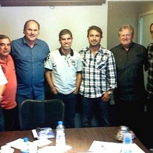 Ricardinho ao ser apresentado como novo técnico do Paraná