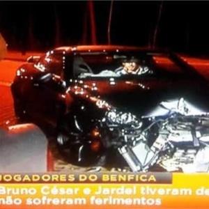Bruno César e Jardel sofrem acidente de carro em Portugal