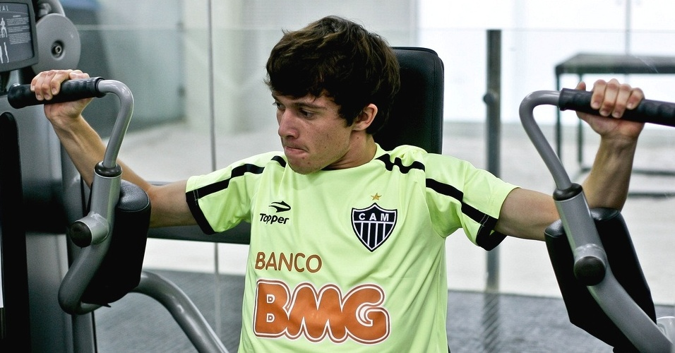 Meia-atacante Bernard durante a pré-temporada do Atlético-MG (10/1/2012)