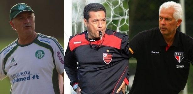 Técnicos Felipão, Vanderlei Luxemburgo e Emerson disputam Estaduais pressionados