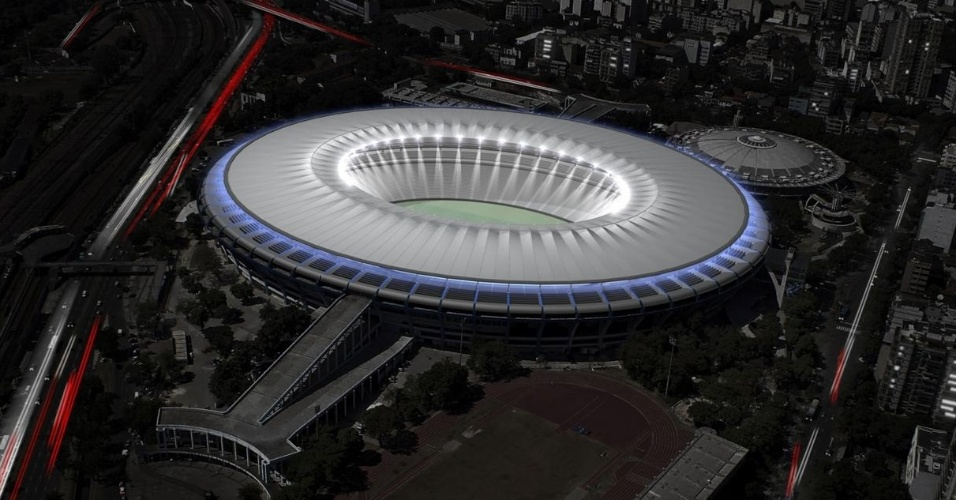 Maquete mostra como estádio do Maracanã ficará após a reforma para Copa do Mundo de 2014