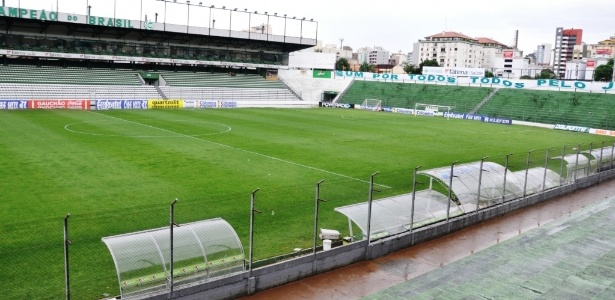Túnel de acesso do estádio Alfredo Jaconi foi alagado até o teto com chuvarada