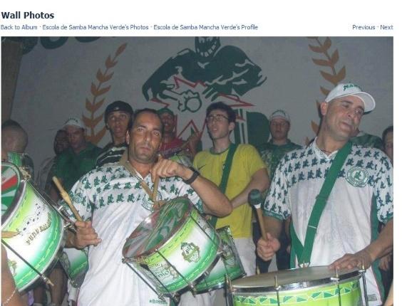 Edmundo e Marcos participam de ensaio da Mancha Verde